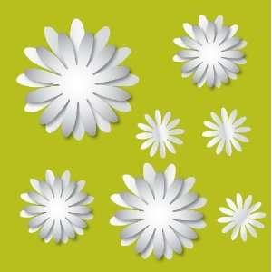 Brewster MA99950 3D Flowers Peel and Stick Mirror Art