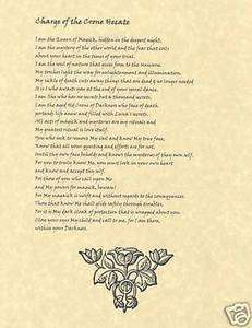 Book of Shadows page Invocation and Charge of the Crone Hecate