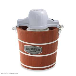 to Basics 4 Quart Wooden Bucket Ice Cream Maker With Recipe Booklet