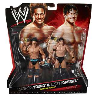 WWE Series 10 Action Figure 2 Pack   Darren Young vs. Justin Gabriel