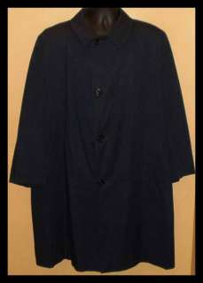AQUASCUTUM AQUA 5 Navy TRENCH Rain Coat Overcoat Sz 48