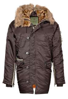 Alpha Industries N3B   Winterjacke   deep brown   Zalando.de