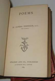 LEATHER; TENNYSONs Works!! FIRST EDITION 1869!! poetry