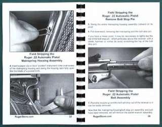 Ruger Mark II 22/45 .22 Pistol Book Gun Guide Manual