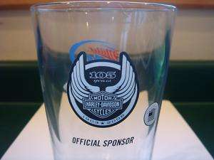 105th Anniversary Miller Lite Harley Davidson Pint Glas