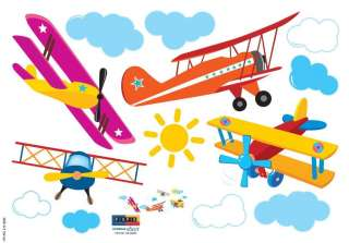 Aircrafts Nursery/Kids Room Wall Art Sticker Decals