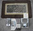 LEOPARD CHEETAH ANIMAL JUNGLE SAFARI SHOWER CURTAIN BATH MAT HOOKS