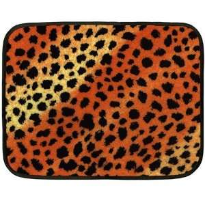 Custom Mini Fleece Bed Blanket (Two Sides) Tiger Leopard Print Animal