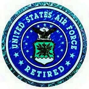 United States Air Force Retired Decal Sticker USAF
