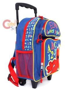 Sesame Street Elmo Shcool Rolling Backpack Roller Bag 3