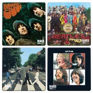 The Beatles Rock Album Covers 4 Piece Coaster Set NEW