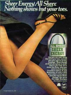 Sheer Energy All Sheer. Nothing shows but your toes Leggs pantyhose