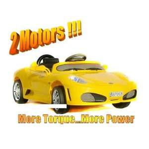 RIDE ON SPORTS CAR FERRARI F430 ELECTRIC BATTERY OPERATED Car 2 Motors