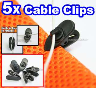 Cable Cord Wire Lapel Clip Tie+Rotate Mount fo Lavalier Mic