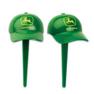 TOPPER BIRTHDAY FAVORS CAKE CUPCAKE PICKS JOHN DEERE 24
