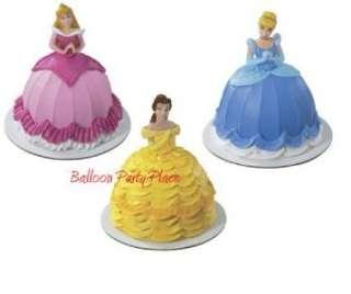 DISNEY PRINCESS Cake topper set Cinderella Belle Aurora