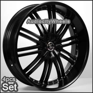 26 D1 Black Wheels,Rims (Chevy Ford, Escalade GMC