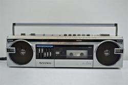 Sanyo Stereo Boombox AM FM Radio Cassette Deck Tape Player M7110