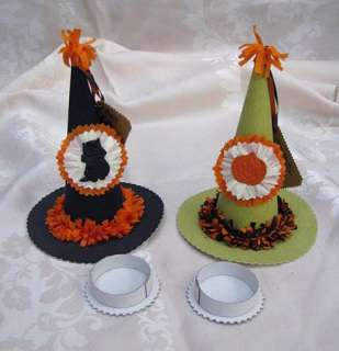 WENDY ADDISON HALLOWEEN WITCH HAT CAT&JOL CANDY BOXES