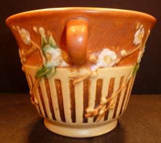 Roseville Cherry Blossom Brown Flower Pot 239 5 MINT