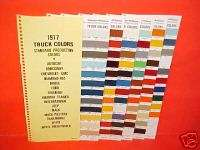 1977 CHEVROLET DODGE GMC FORD TRUCK COLOR PAINT CHIPS
