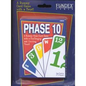 Phase 10 Card Game A Rummy Type Card Game With a Challenging and