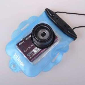 Blue Underwater Digital Cameras Waterproof Case Dry Bag