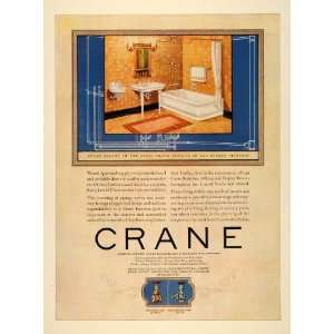 1923 Ad Crane Fixtures Bathroom Home Decor Valve House