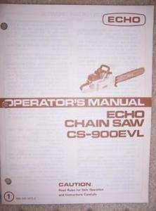 Echo CS 900EVL Chain Saw Manual Power Tool M