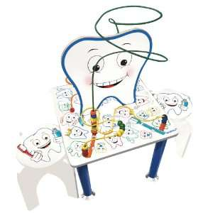 Tooth Table with chairs educated dental hygene bead maze