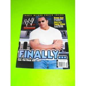 The Rock Dwayne Johnson (WWF WWE Magazine   March 2003