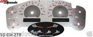 Chevy Tahoe Stainless Steel Gauge Face Kit MPH RED