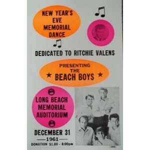 Beach Boys Playing a Memorial Dance Dedicated to Ritchie Valens Poster
