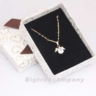 Plated Swaroski Crystal CZ Pendant Angel Necklace + Gift Box 14
