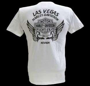 Harley Davidson Las Vegas Dealer Tee T Shirt WHITE MEDIUM #BRAVA1