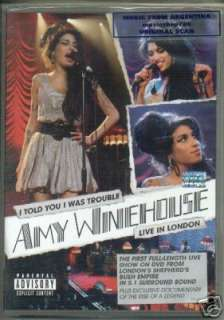 AMY WINEHOUSE, I TOLD YOU I WAS TROUBLE   LIVE IN LONDON. IN ENGLISH