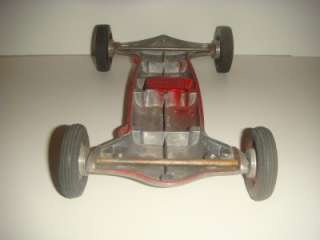 ORIGINAL 1950s Cox THIMBLE DROME Prop Rod TETHER CAR Rolling Chassis
