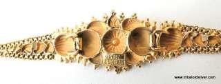 VINTAGE ANTIQUE ETHNIC TRIBAL SOLID 22 K GOLD BRACELET BANGLE