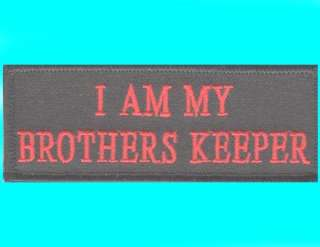 BROTHERS KEEPER motorcycle moto BIKER PATCH
