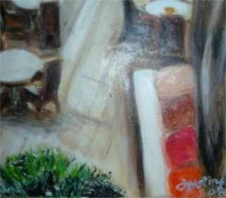 Christine ART Original Oil Paintings PIANO LOUNGE CAFE*