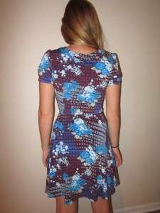 FREE PEOPLE Adorable Low Cut Floral Dress sz Small mint