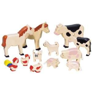 Toys Pure Wooden Farm Animals Set Toys & Games