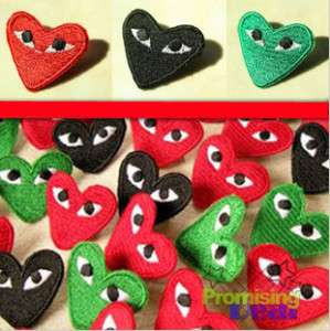 COMME DES GARCONS CDG PLAY LOGO HEART PIN 3 COLORS