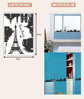SS 58217 EIFFEL TOWER WALL ART DECOR MURAL STICKER