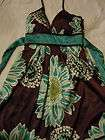 Maurices Halter style Dress Brown Gold Sequined, Size 3
