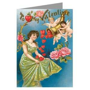 Horn of Plenty Hearts Valentines Day Greeting Cards