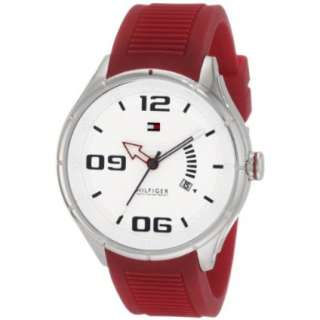 Tommy Hilfiger Mens 1790804 Sport Stainless Steel Red Silicon Watch