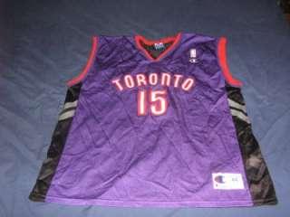 vintage VINCE CARTER TORONTO RAPTORS CHAMPION NBA jersey shirt size 44