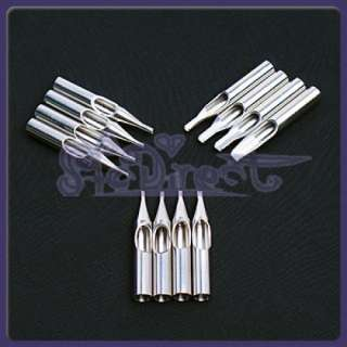 12 Stainless Steel Tattoo Nozzles Tip/Tube High Quality