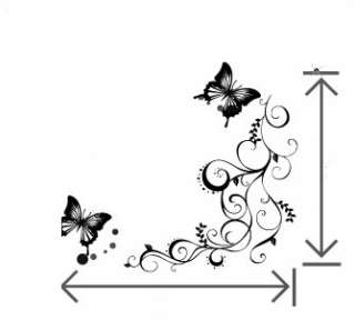 Diy White Butterfly Decorative Wall Paper Art Sticker